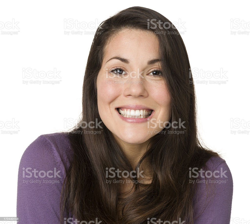 Woman Gives Cheesy Grin royalty-free stock photo
