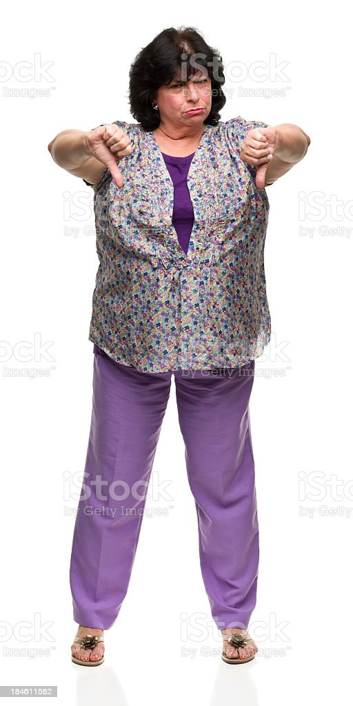 Woman Gives Two Thumbs Down royalty-free stock photo