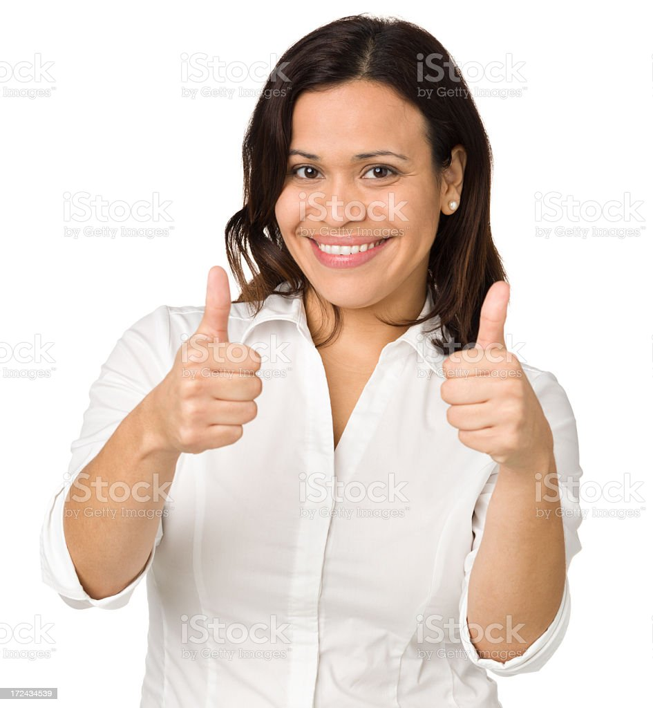 Woman Gives Two Thumbs Up royalty-free stock photo