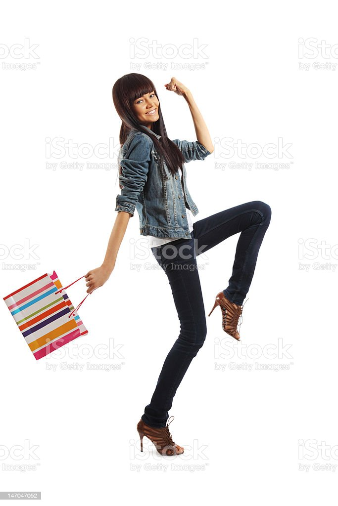 Frau going shopping – Foto
