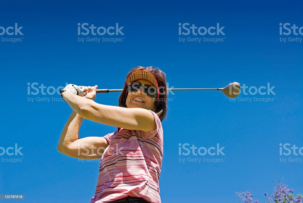 Woman Golfer stock photo