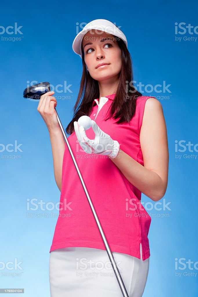 Woman golfer royalty-free stock photo