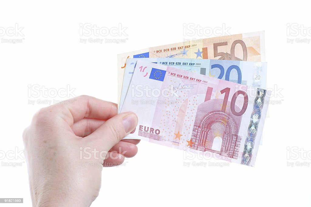 woman hand and cash royalty-free stock photo