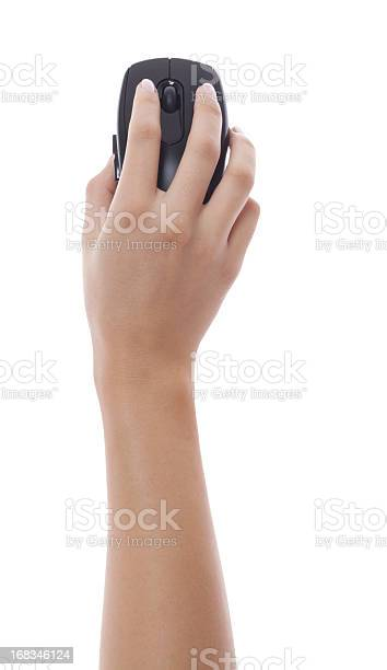 Woman hand holding black pc mouse isolated picture id168346124?b=1&k=6&m=168346124&s=612x612&h=504lxm0pwqxbcwmxhs2akokbw tah03ftuumo1lneyg=