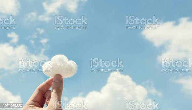 Woman hand holding cotton wool on cloud sky background the of the picture id1054969220?b=1&k=6&m=1054969220&s=612x612&h=5c d4 wvgbwzrt1tkt 2ytxmpag5gruzutj0hlpr8hy=