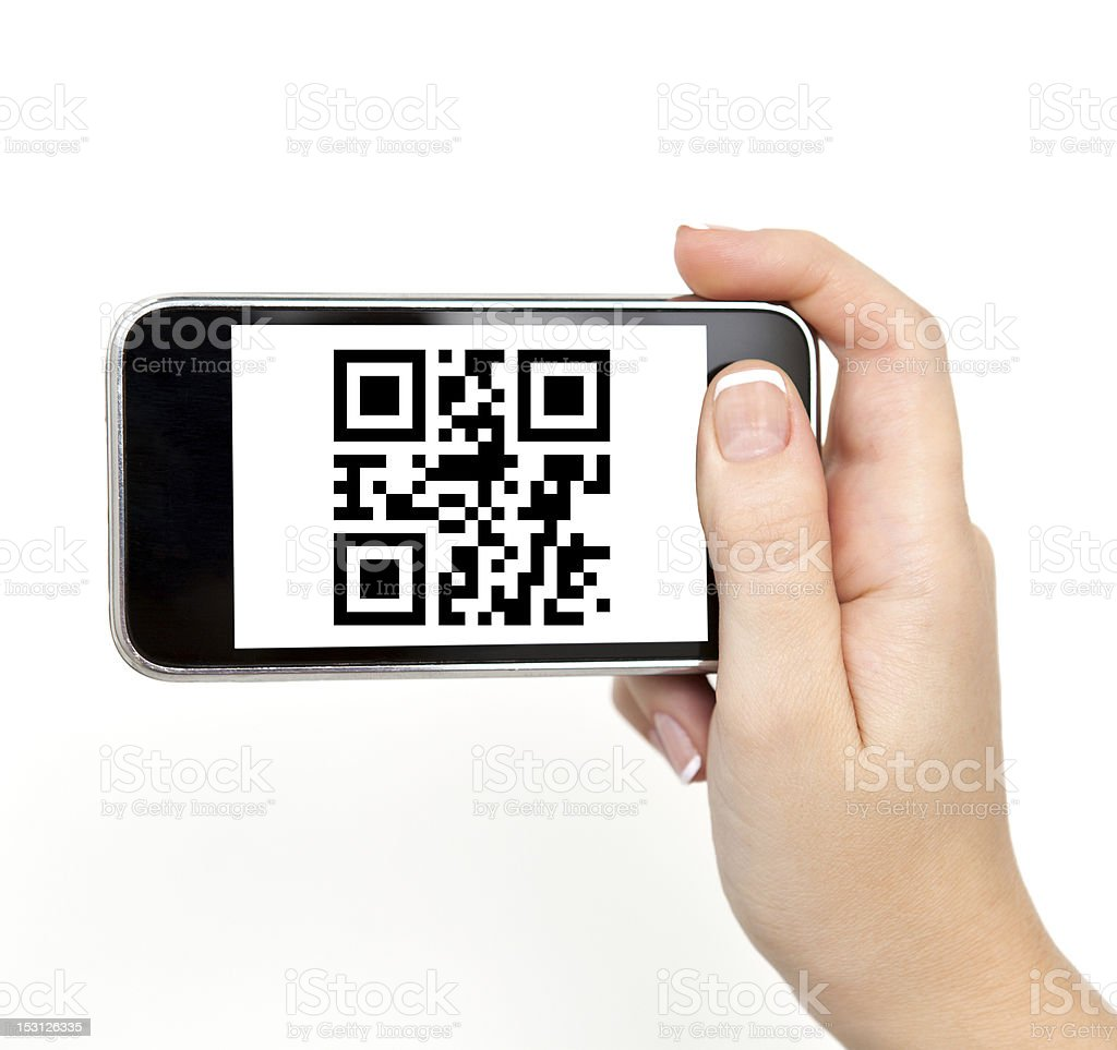 woman hand holding the phone royalty-free stock photo