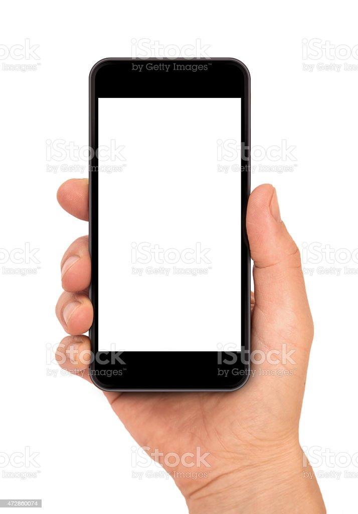 Frau hand hält das Telefon Lizenzfreies stock-foto