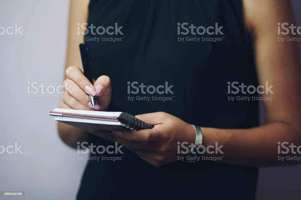 woman hand notebook royalty-free stock photo