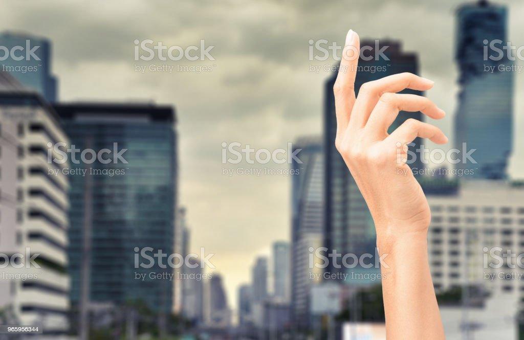 vrouw hand - Royalty-free Aanraken Stockfoto