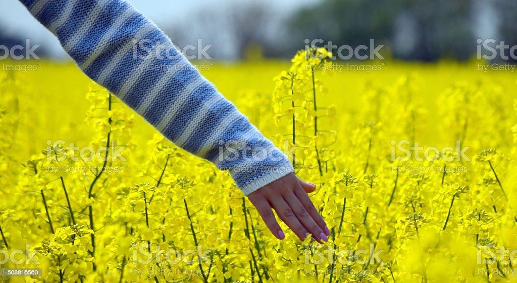woman hand playing stock photo