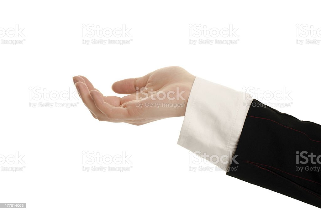Woman hand receiving, begging, presenting. royalty-free stock photo