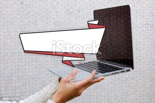 istock Woman hand using laptop 899410700