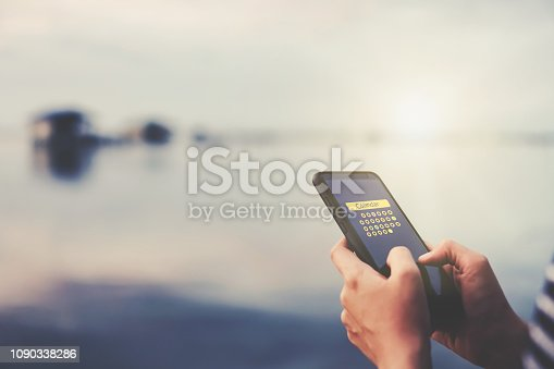 istock Woman hand using smartphone do planning in 2019 to digital calendar application. Business communication  technology concept. 1090338286
