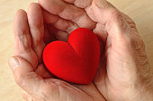 istock Woman hands holding heart - Concept of love and donation 1216352203