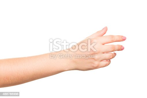 Collage of woman hands on white backgroundswoman hands on white backgrounds