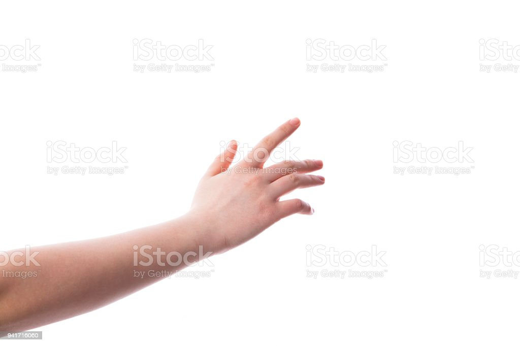 Woman hands on white backgrounds royalty-free stock photo