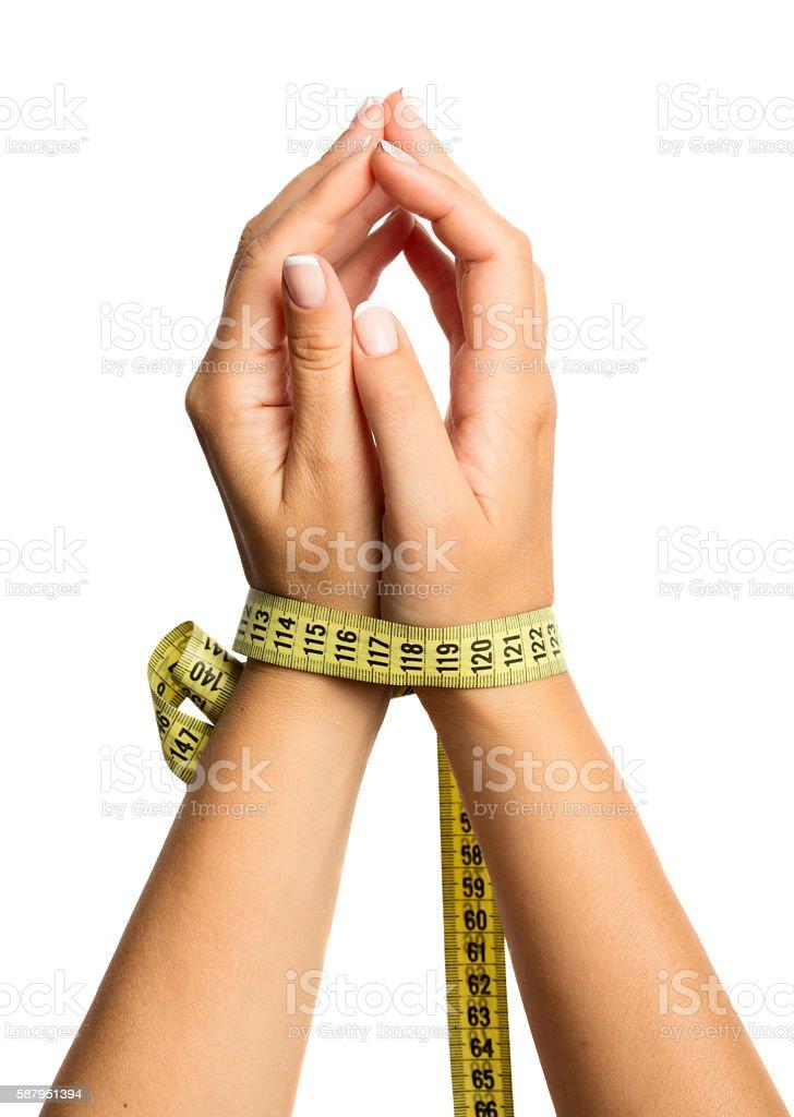 Woman hands stock photo