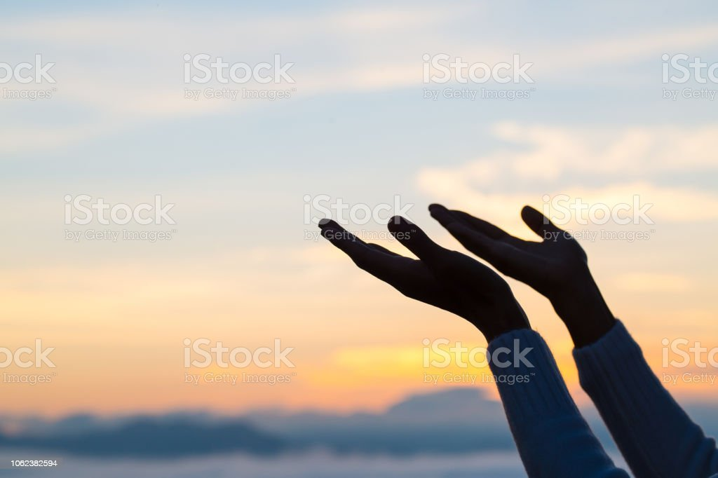 Woman Hands Praying To God Woman Pray For God Blessing To