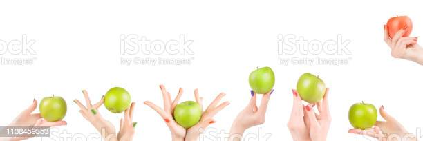Woman hands with apples set isolated with clipping path picture id1138459353?b=1&k=6&m=1138459353&s=612x612&h=qvsgo2zneygunxu6kfdv6bqn jfexrolkapjbe7n320=