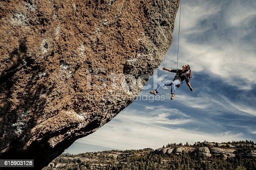 Rock climbing in Margalef Catalonia Spain