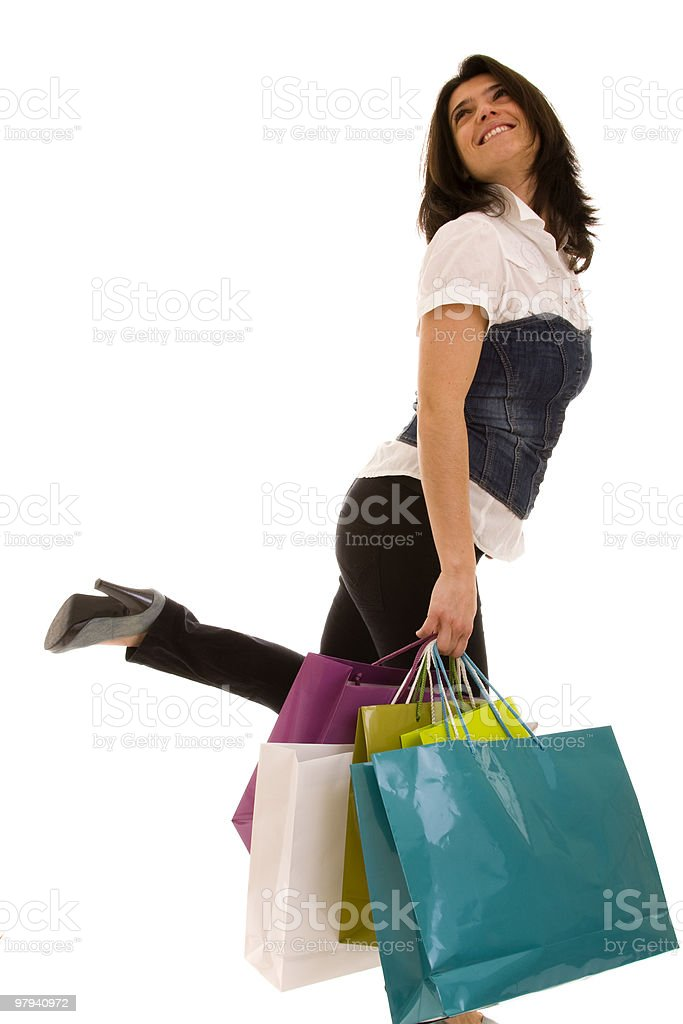 woman happyness after shopping royalty-free stock photo