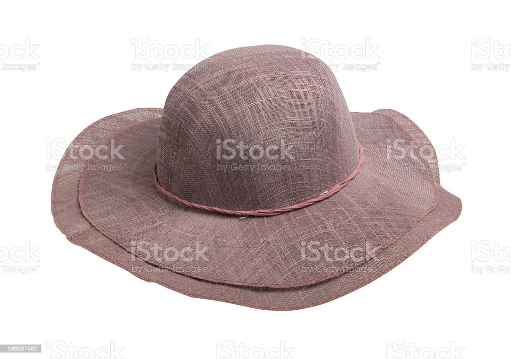 woman  hat isolated on white background royalty-free stock photo