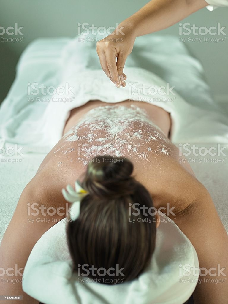 Woman having a massage royalty-free stock photo