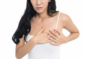 istock Woman having a pain in the heart area 1034380116