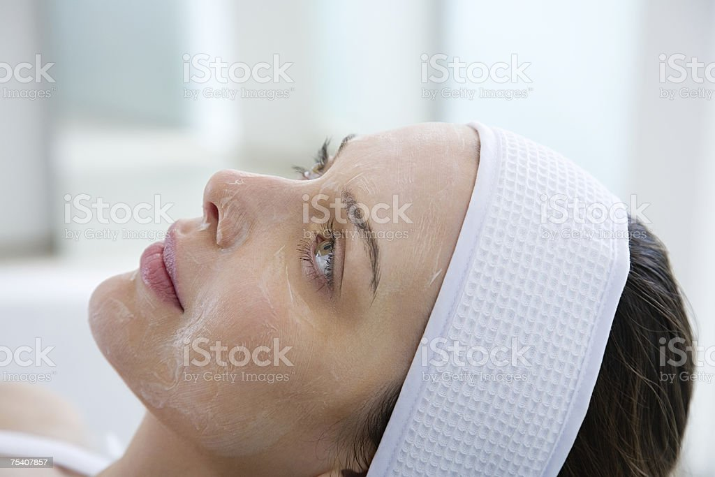 Woman having chemical peel  Adults Only Stock Photo