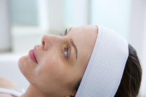 Woman Having Chemical Peel Stock Photo - Download Image Now