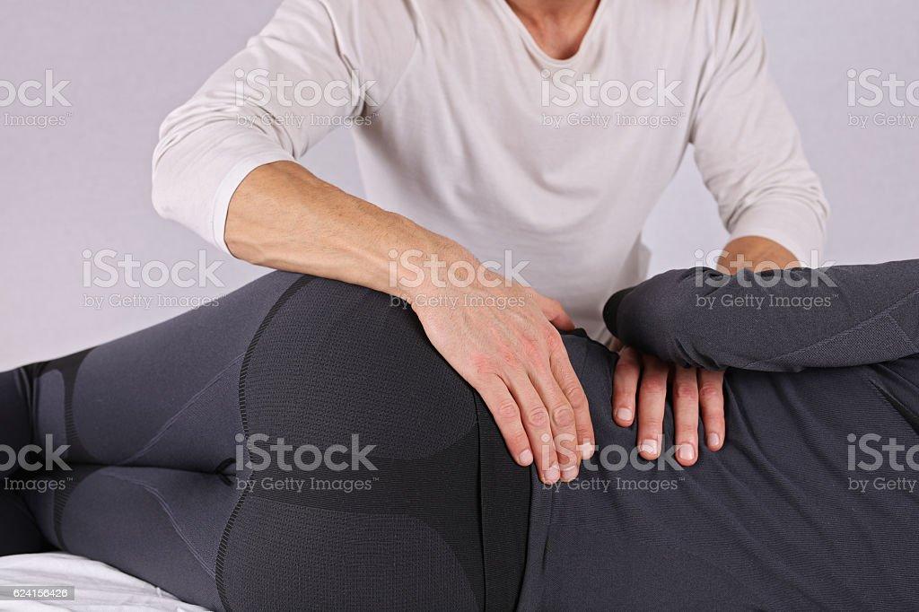 Woman Having Chiropractic Back Adjustment Close Up