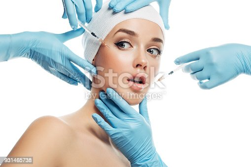 istock Woman having facial injections 931465738