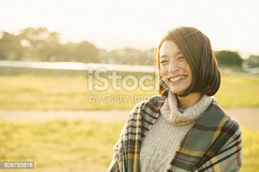 istock Woman having fun time in outdoors 626753816