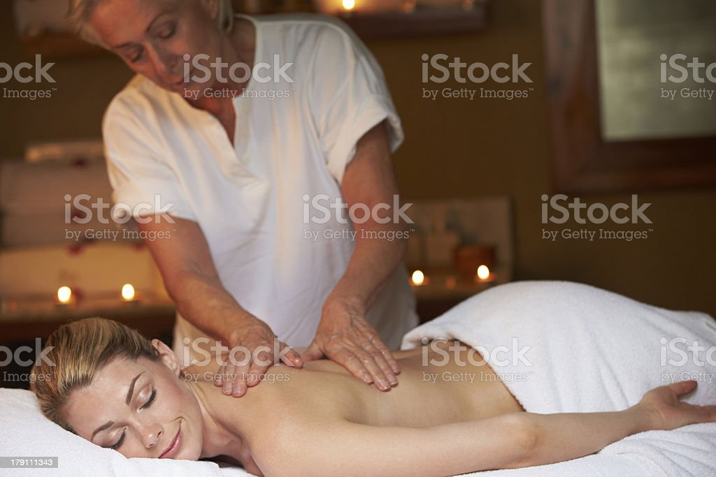 Woman Having Massage In Spa royalty-free stock photo