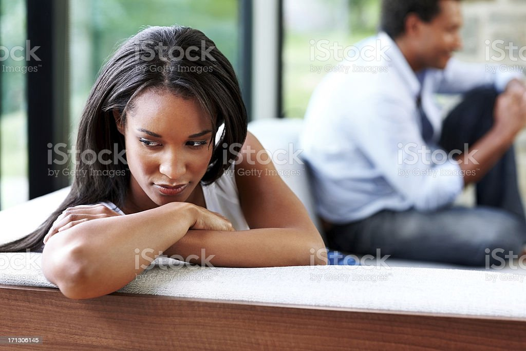 Woman having problems with her relationship royalty-free stock photo