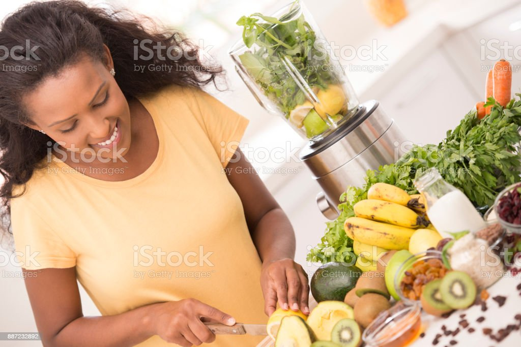 Woman healthy eating concept. stock photo
