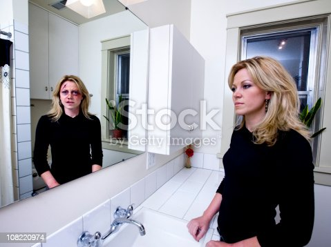 istock Woman Hiding That She is Abused 108220974