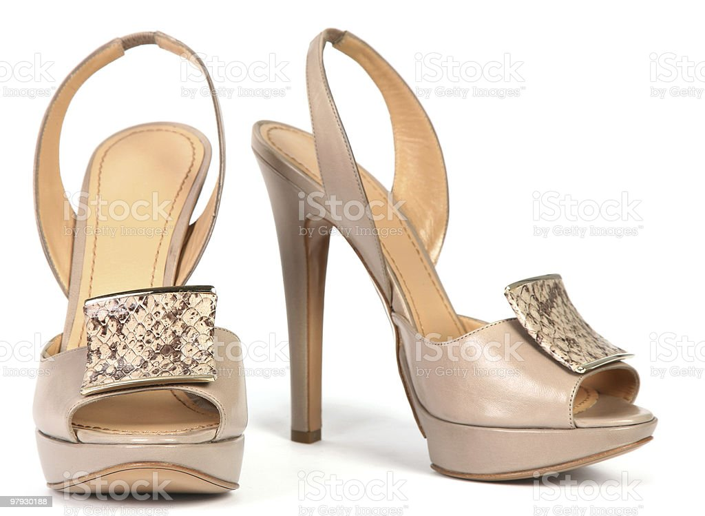 Woman high shoes royalty-free stock photo