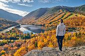 istock Woman hiking at Artist's Bluff in autumn 1156238961