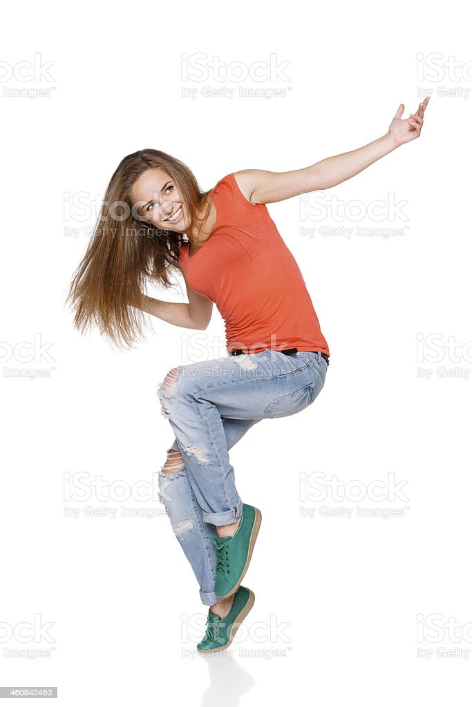 woman hip hop dancer over white background stock photo more