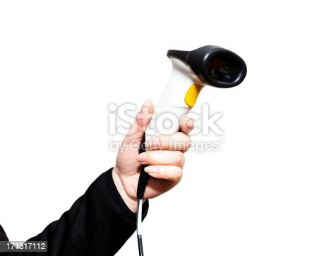 92884259 istock photo Woman holding a barcode scanner 171317112