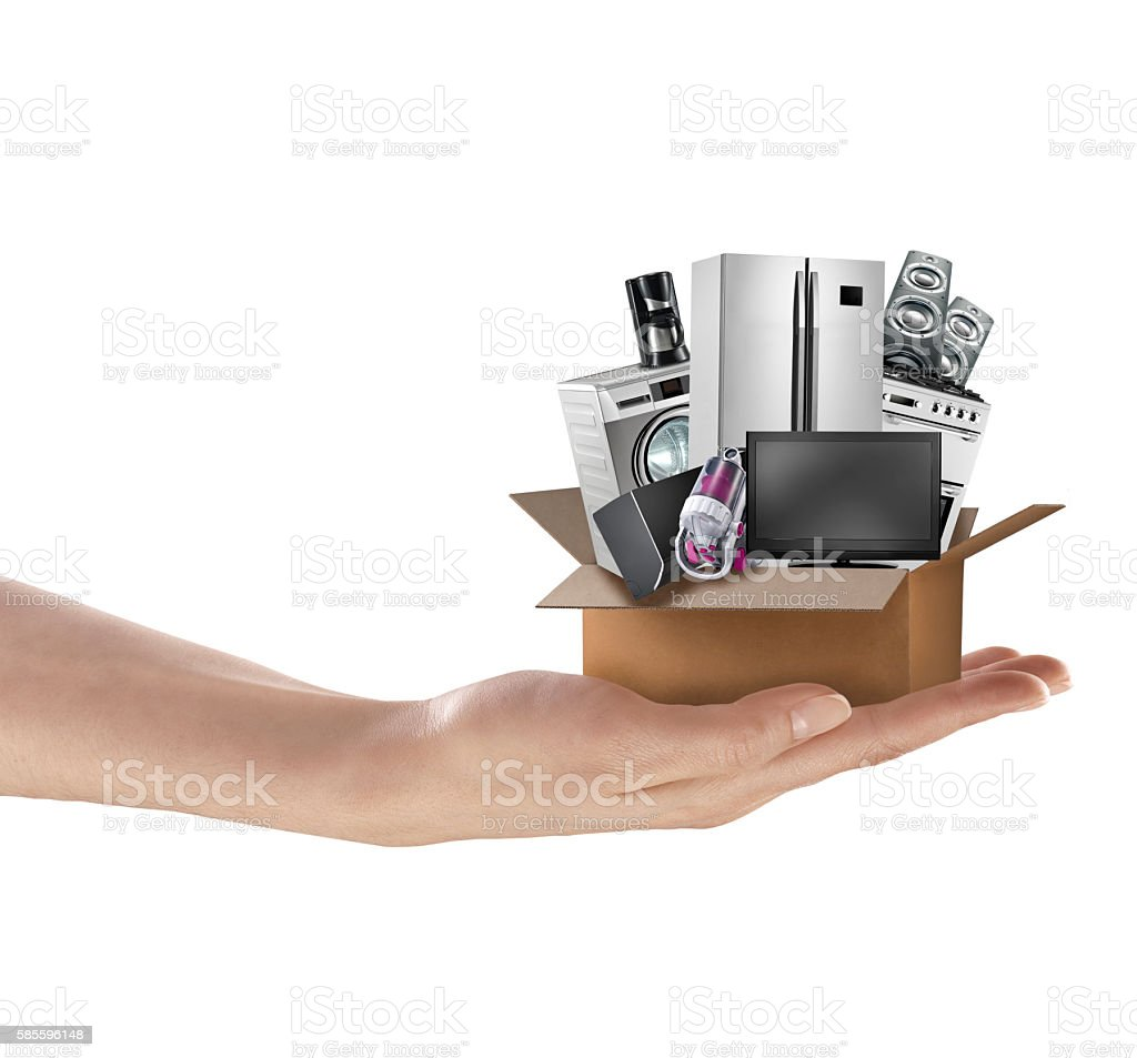 Woman Holding a Gift stock photo