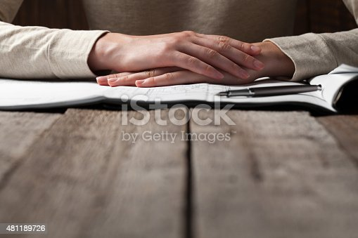 536971177 istock photo woman holding a pen over a house constructing plan 481189726