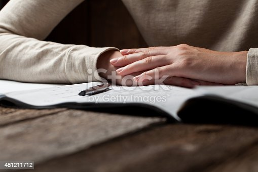 536971177 istock photo woman holding a pen over a house constructing plan 481211712