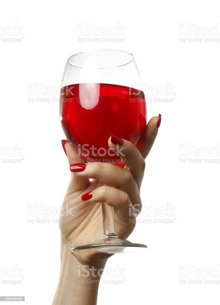 Woman holding a wine glass royalty-free stock photo