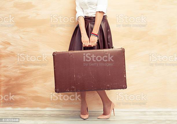 Woman holding antique suitcase for traveling picture id513223446?b=1&k=6&m=513223446&s=612x612&h=zq9hn gvdm9xburs jr452pzm 91g16sx95wrsqufzo=