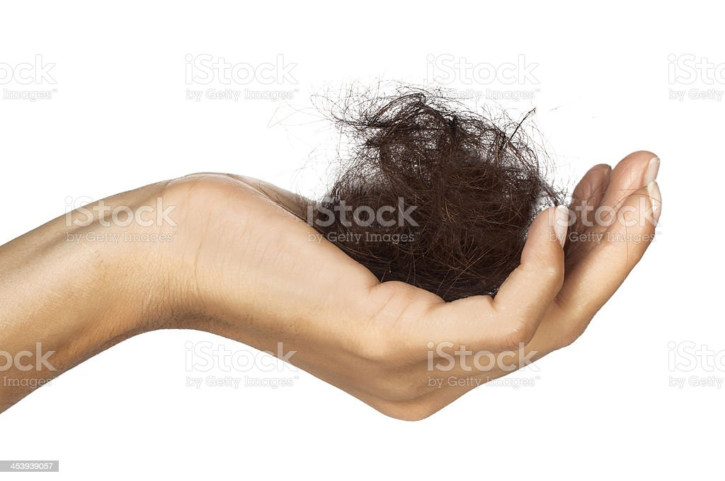 Frau, deren Haare – Foto