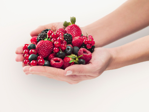 Woman holding berries