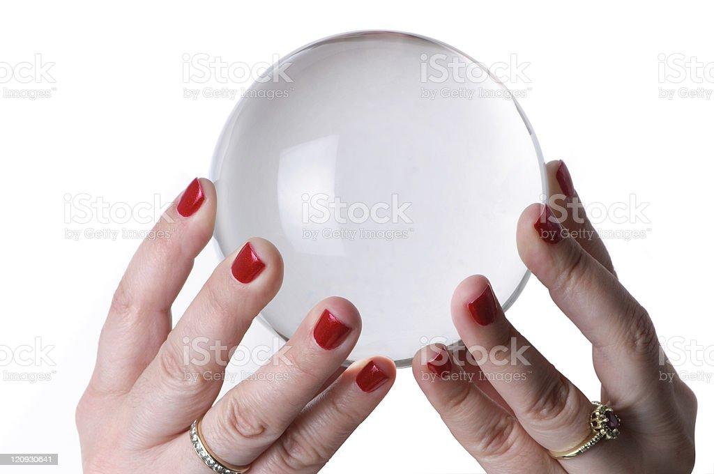 Femme tenant la Boule de cristal - Photo