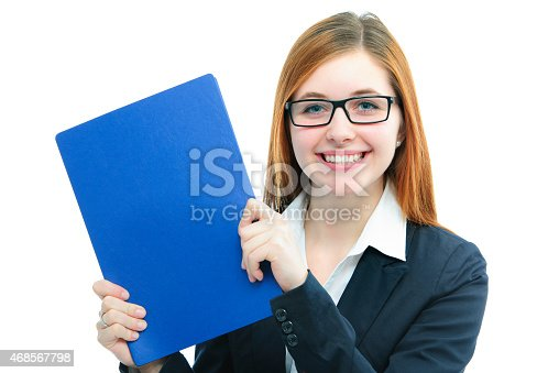 istock Woman holding files for a job interview 468567798